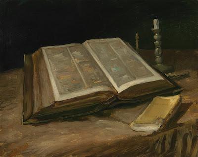 Natureza-Morta com Bíblia Aberta, Vela Apagada e Romance, 1885