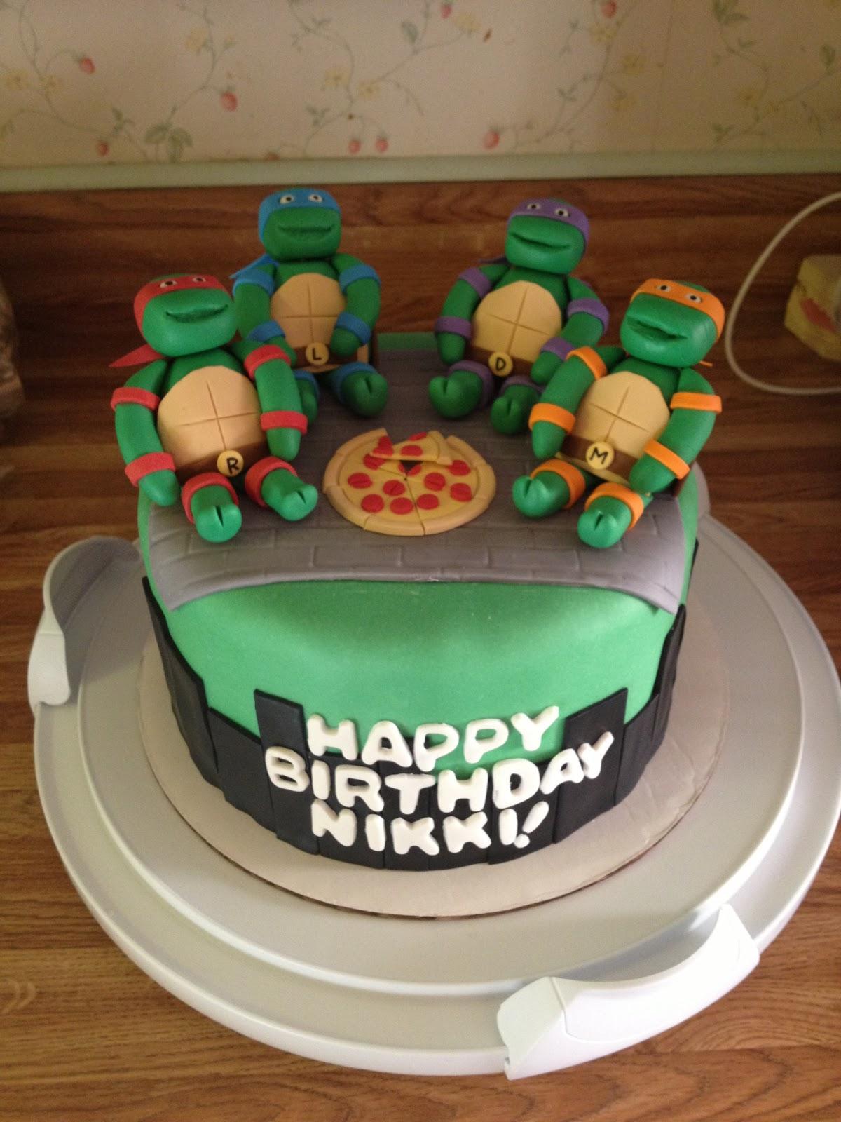 Bay Cakes Ninja Turtle Birthday Cake