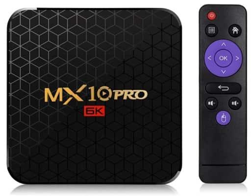 MX10 Pro 6K: TV Box con Android 9.0, soporte 6K y HDR+