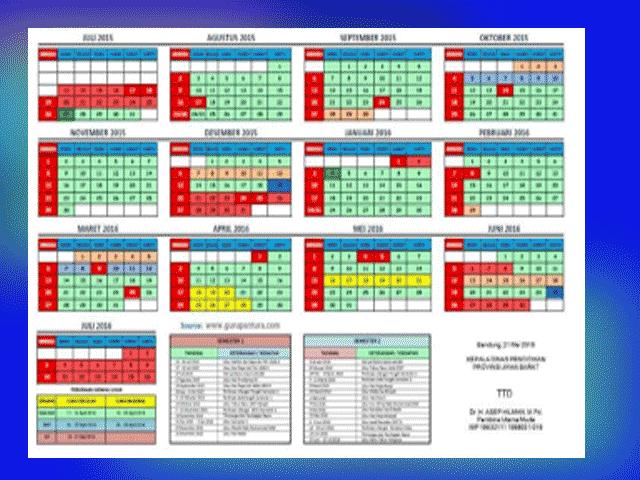 Bonus Aplikasi Kalender Pendidikan Otomatis SD/MI,SMP/MTs,SMA/MA,SMK/MK