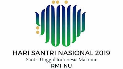 Logo dan Tema Resmi Hari Santri Nasional Tahun 2019 Santri Indonesia untuk Perdamaian Dunia