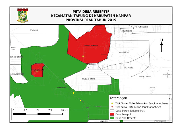 Pemetaan Daerah Reseptif di Kab. Kampar