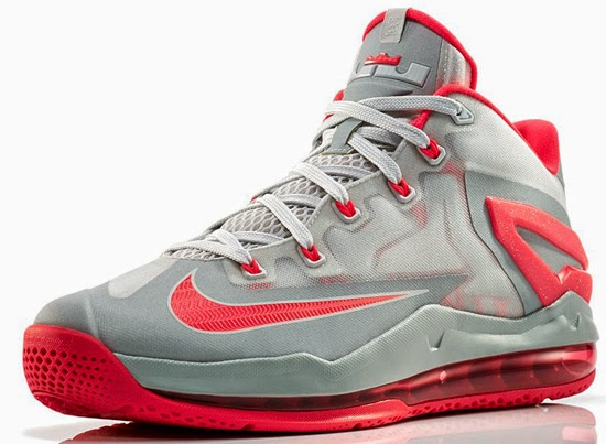 c772e369ec2 This is the second Nike LeBron 11 Low set to drop. They come in a light  base grey