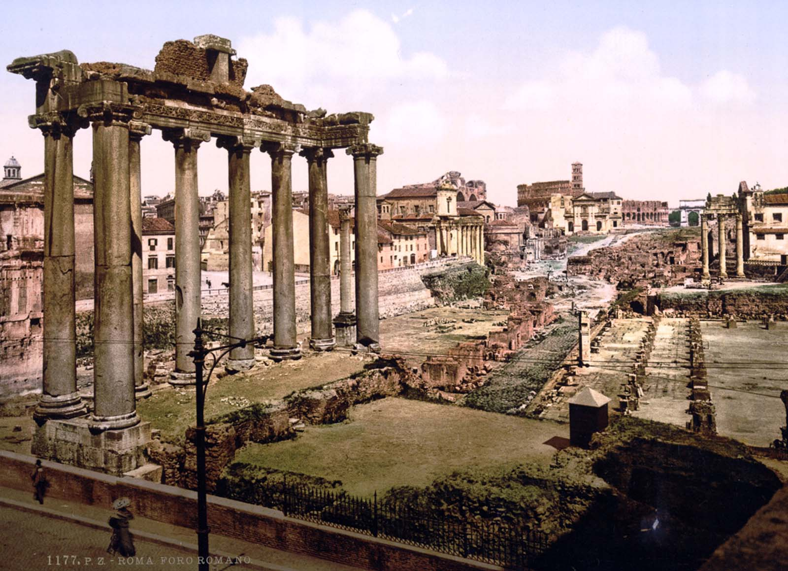 rome historical color photographs