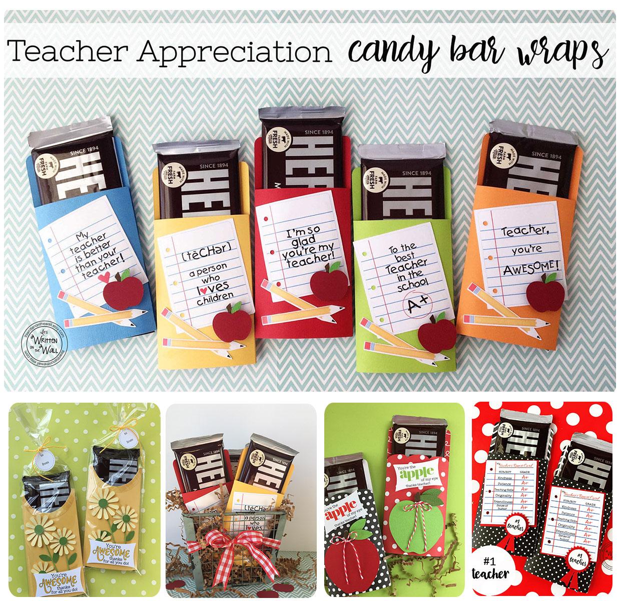 it's written on the wall: teacher appreciation-so many gift ideas