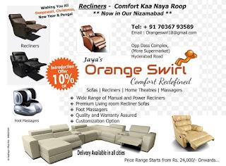 Jayas Orange Swirl Comfort Redefined