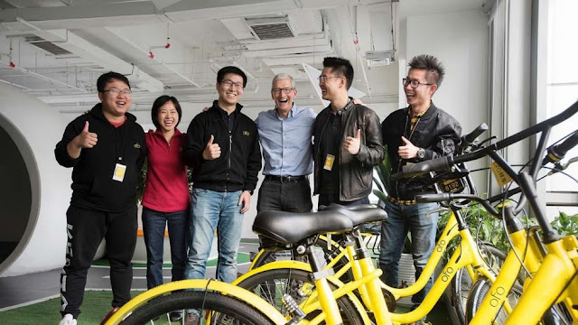 Ofo gains strength with new investment player, Apple