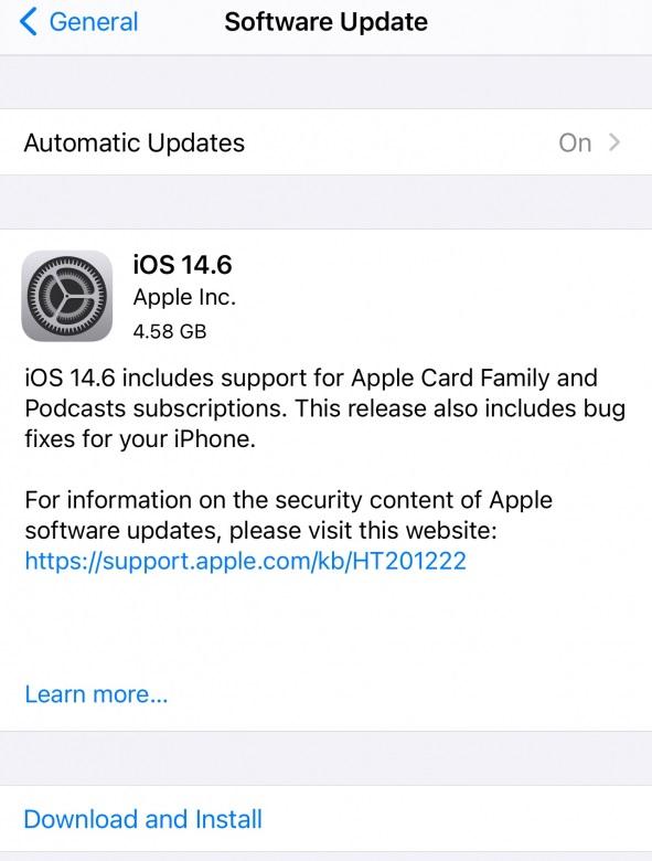 iOS 14.6 Features Changelog!
