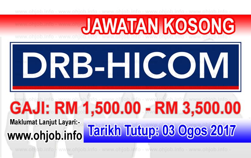 Jawatan Kerja Kosong DRB-HICOM Berhad logo www.ohjob.info ogos 2017