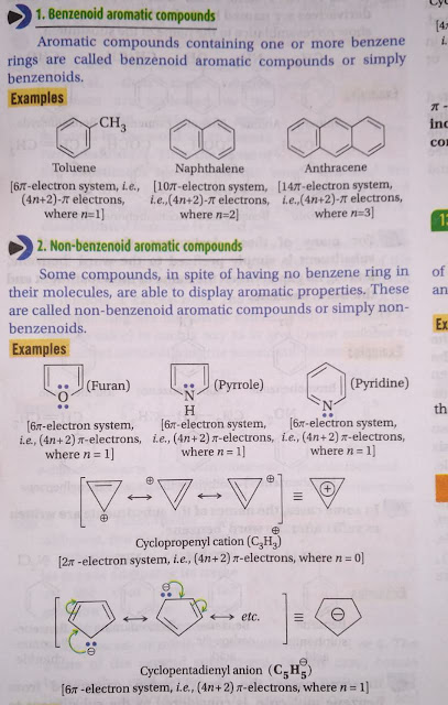 Benzenoid  and non Benzenoid aromatic compounds
