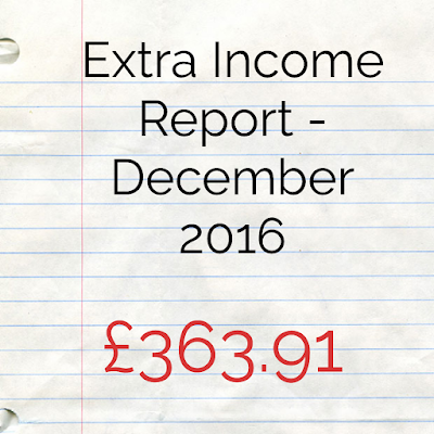Extra Income Report for December 2016 - Homely Economics