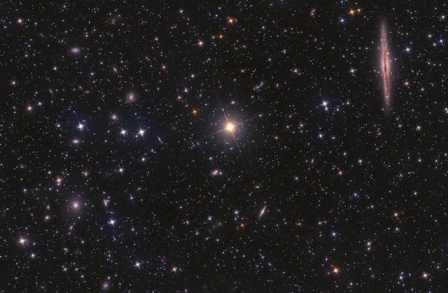 NGC 891 và Abell 347. Hình ảnh: Laszlo Bagi.