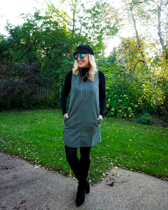 How to Layer a Fall Dress