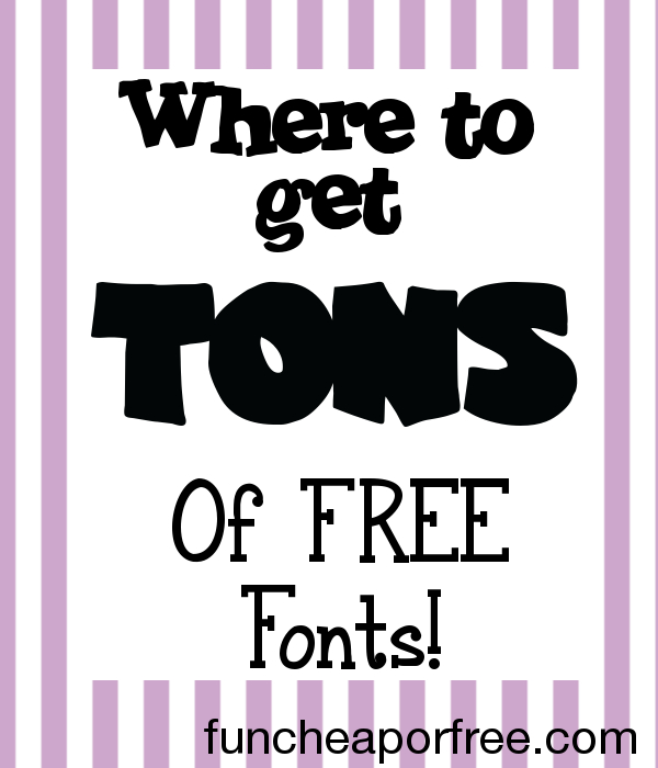 FREE fonts galore - perfect for custom projects  - Fun Cheap or Free