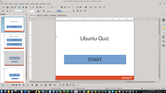 Create A Quiz / Interactive Educational Media in Linux with LibreOffice Impress
