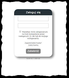 Strona logowania (login page)