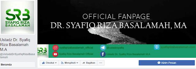Alamat Website dan Sosial Media Resmi (Official) Ustadz Syafiq Basalamah