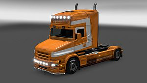 Torpedo paint job for Scania T