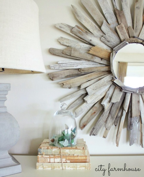 Round Driftwood Mirror Tutorial