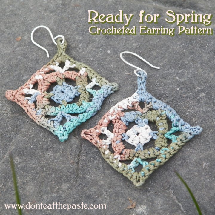 Dont Eat The Paste Ready For Spring Crocheted Earrings