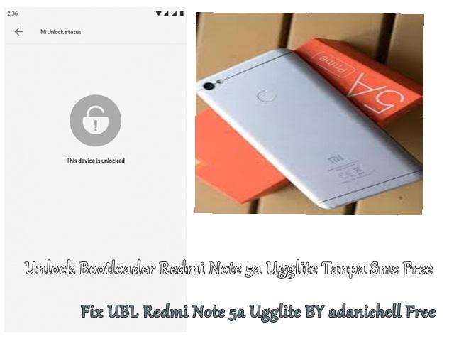 Unlock Bootloader Redmi Note 5a Ugglite Tanpa Sms Free