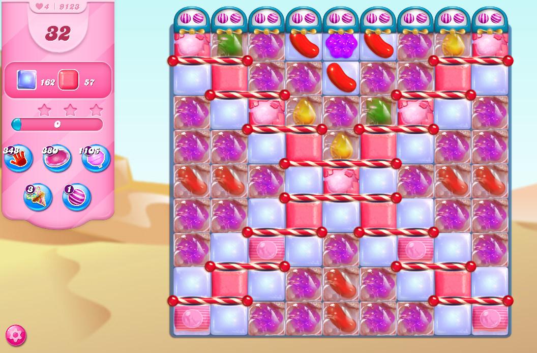 Candy Crush Saga level 9123