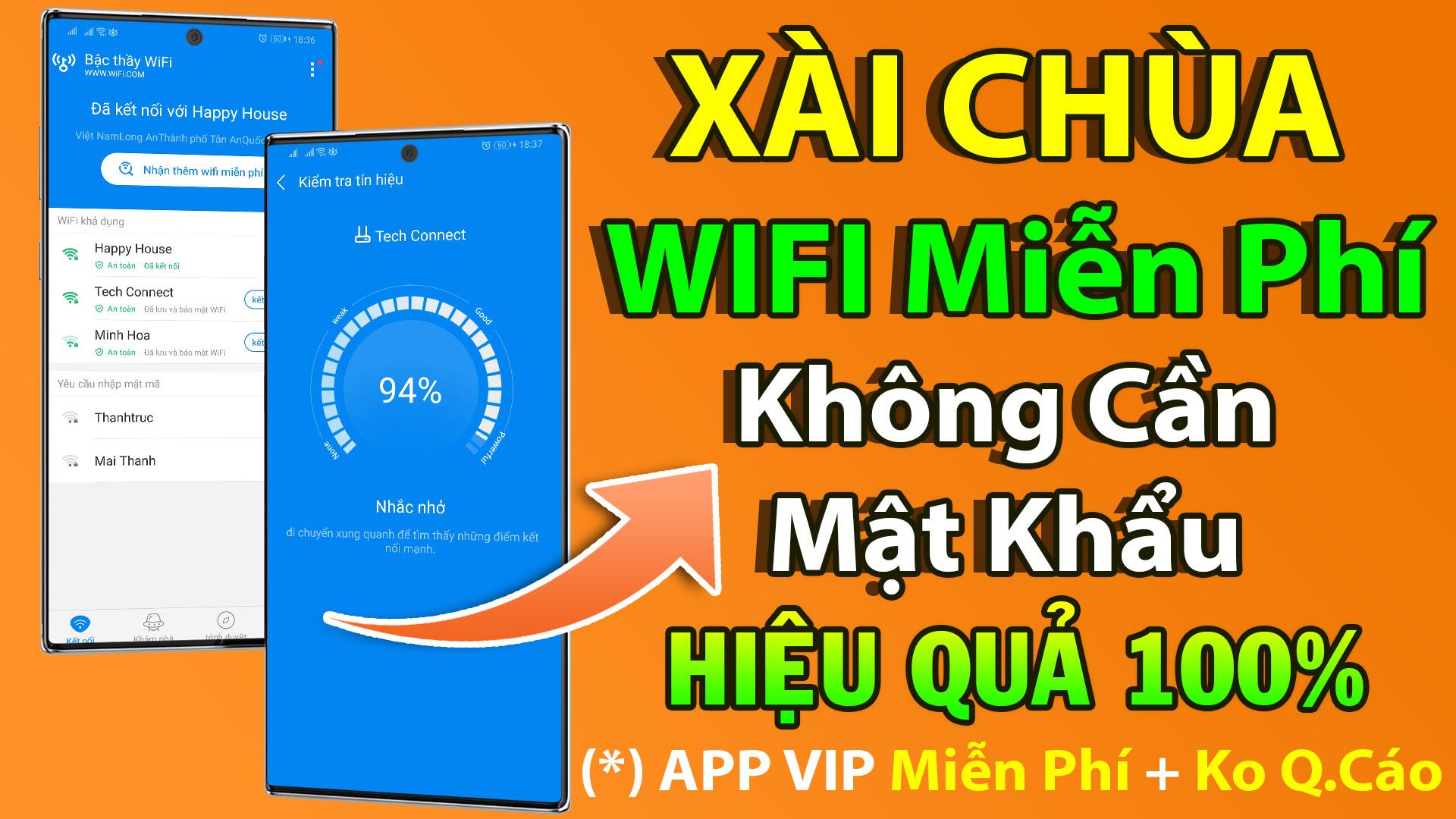 Ứng dụng kết nối WIFI miễn phí trên điện thoại Android hiệu quả 100%