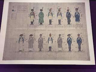 Original sketches of Napoleonic uniforms by Andrew Mollo for the film that was never made