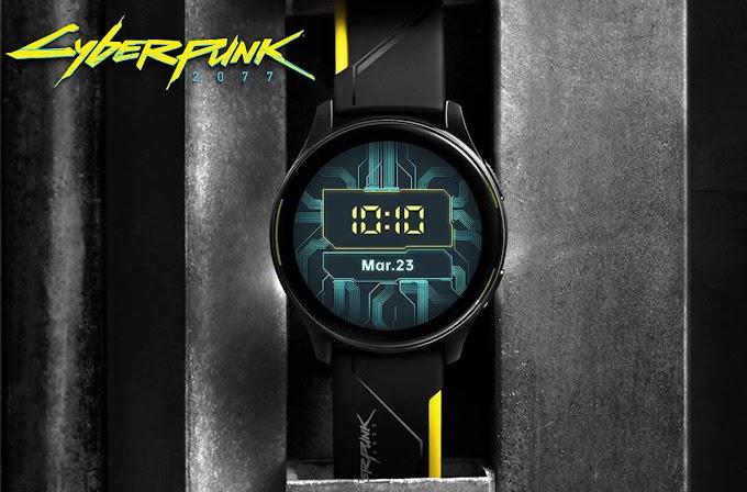 Sorteio de um OnePlus Watch Cyberpunk 2077 limited edition