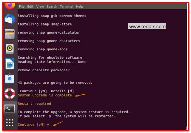 linux ubuntu upgrade complete