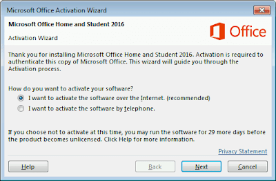 Microsoft Office Activation Wizard
