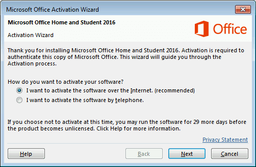 Microsoft Office 365 Activation Wizard