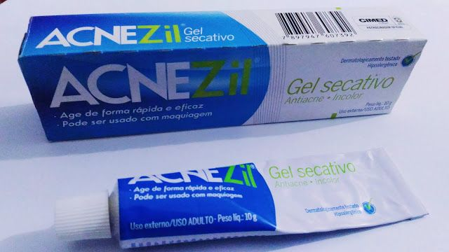 Resenha Acnezil Gel Secativos para espinhas antes e depois