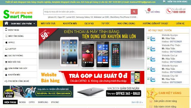 [Share] - Shop bán hàng Điện thoại