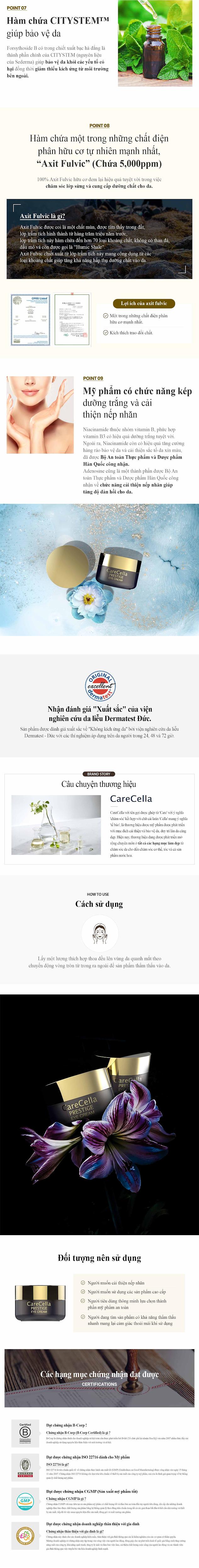 CareCella Prestige Eye Cream (kem duong mat)