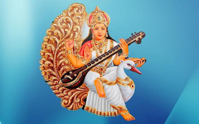 Beautifull Maa Saraswati HD Wallpaper