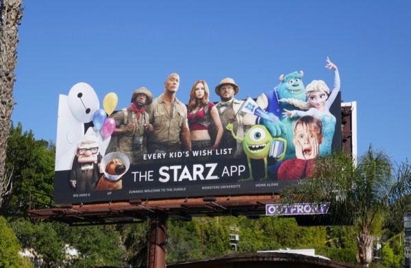 Starz App Wish List billboard