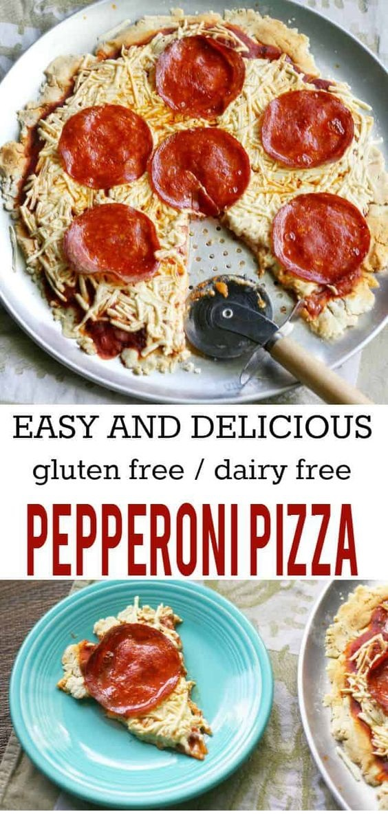 Pepperoni Pizza - Gluten Free, Dairy Free And Egg Free.