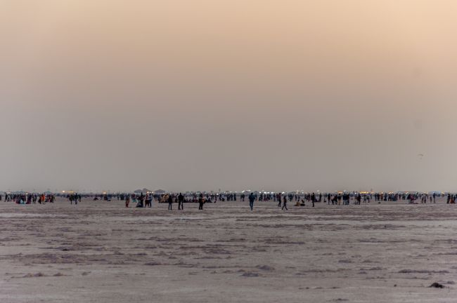 The Visitors and the vast Rann of Kutch.