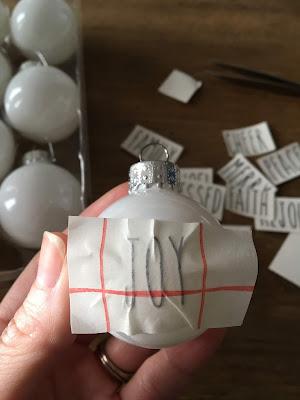 DIY Rae Dunn Ornaments