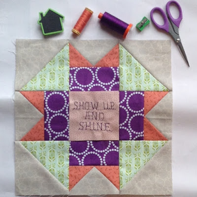 #quiltblockmania Show up and shine block Sew Joy Creations