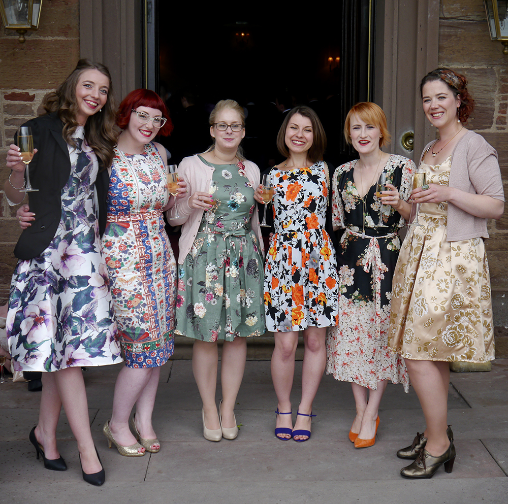 What Helen Wore, wedding guest style, wedding guest outfit, floral dress, florals, flower print dress, Oasis dress, V&A x Oasis, V&A print, Dorothy Perkins, TK Maxx, floral print, Fasque Castle, Scottish blogger, wedding season