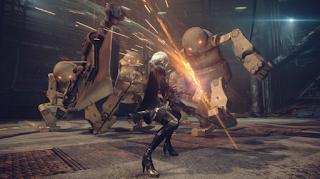 интересные сражения в игре NieR Automata
