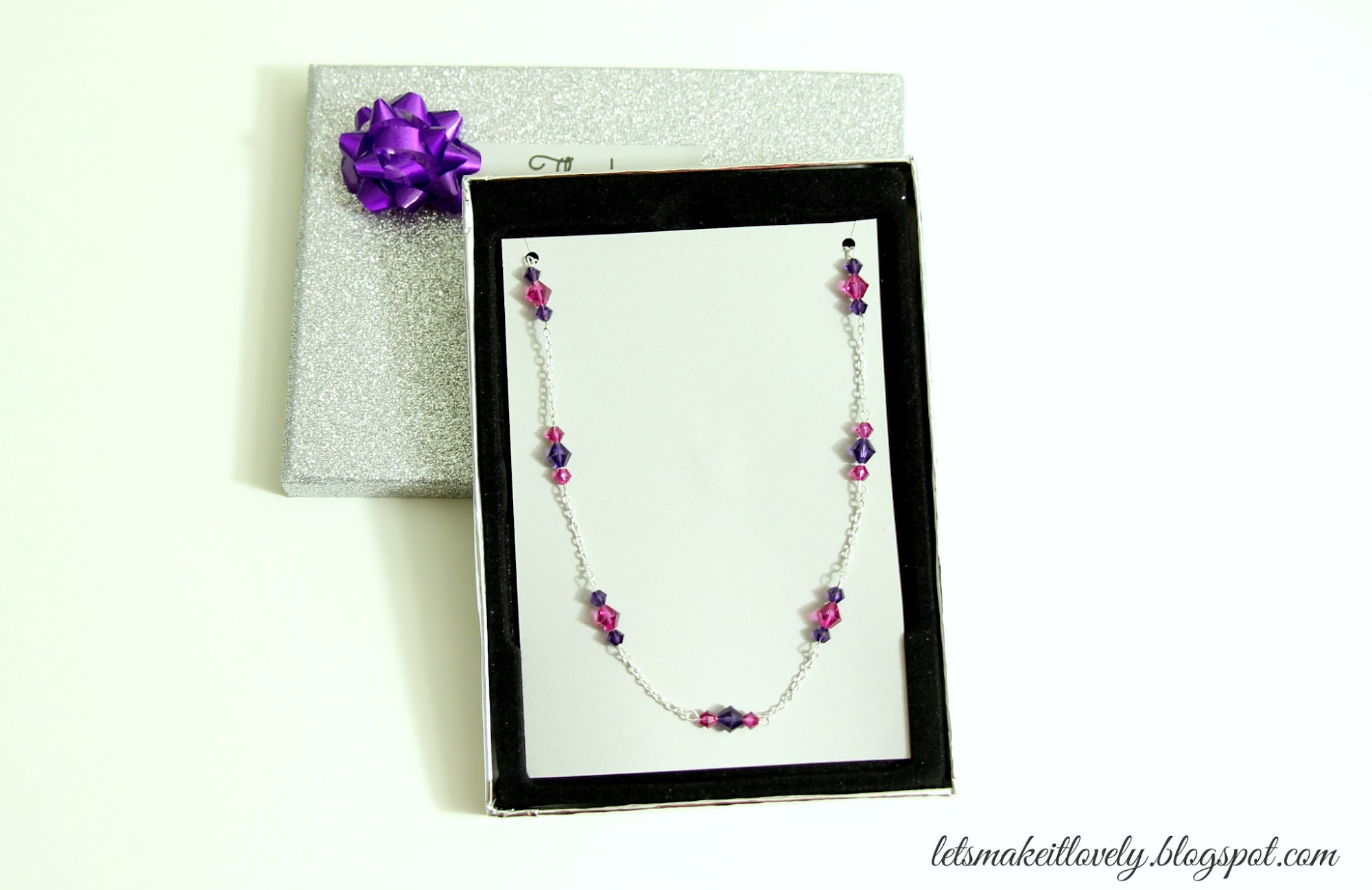 DIY simple swarovski bead necklace. Beginners jewelry making.