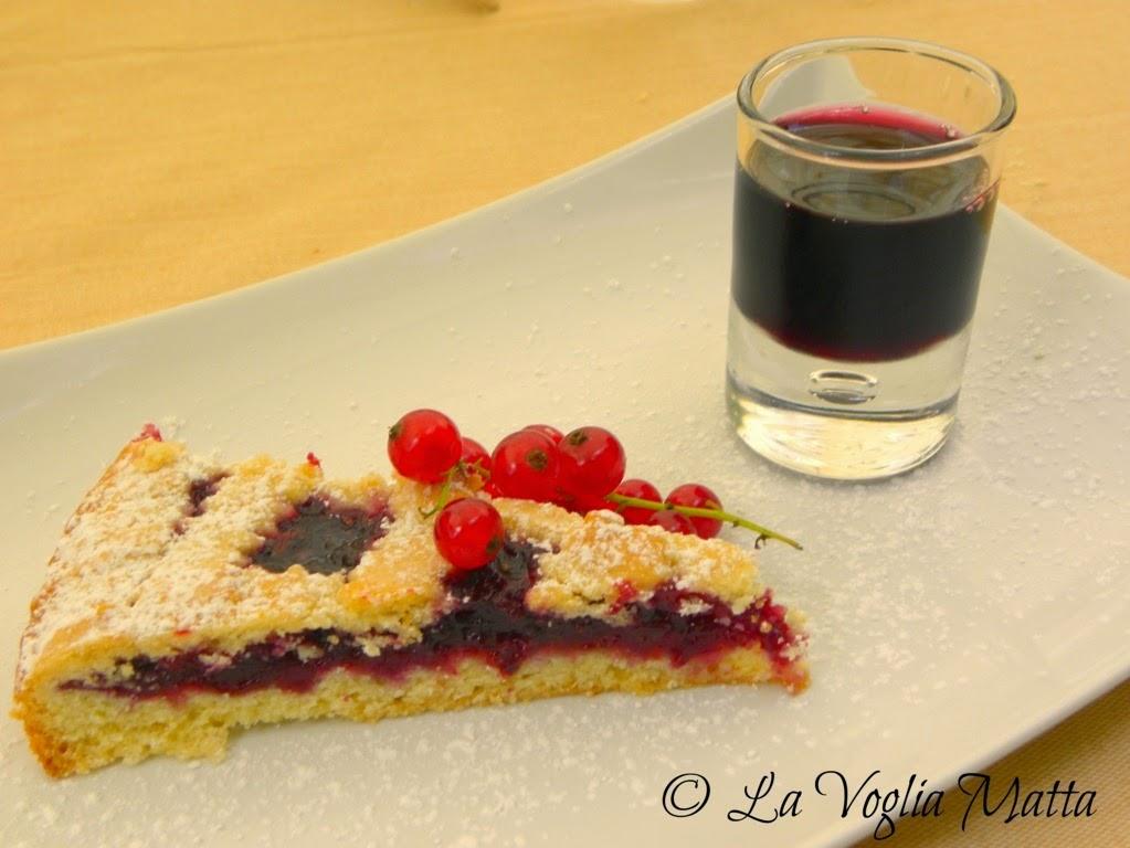 Enoteca di Sgonico sul Carso triestino crostata di ciliegie con liquore al vino Terrano