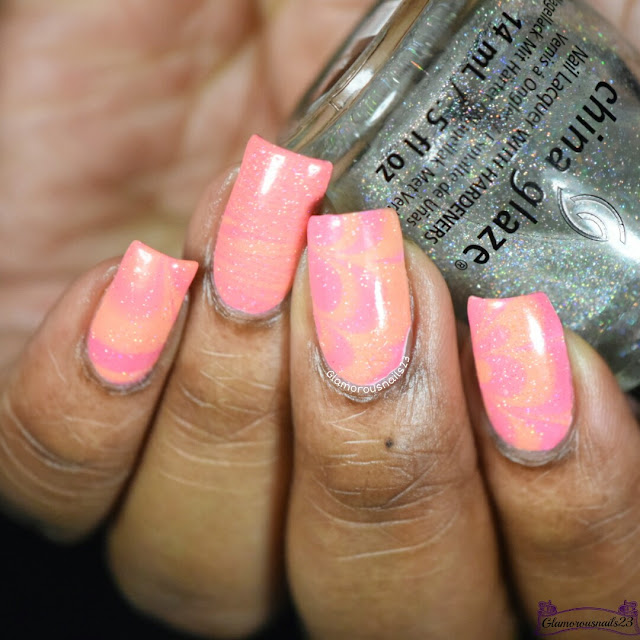 Watermarble Wednesdays: Pink & Orange