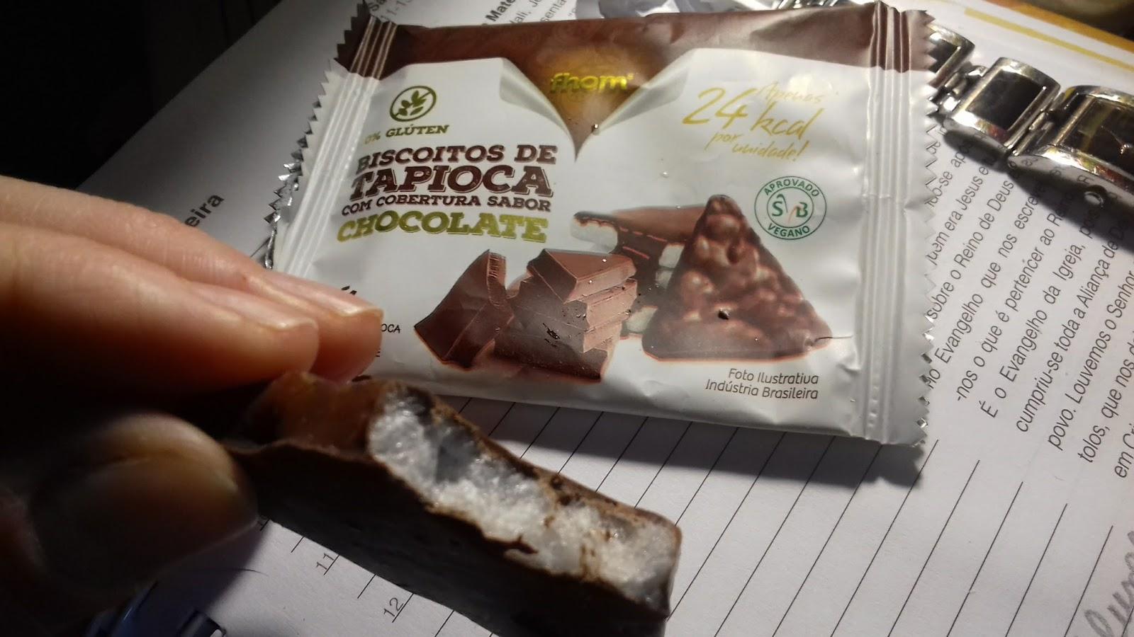 biscoito de tapioca com chocolate