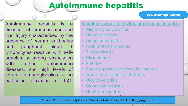 What are the differences between the types of autoimmune hepatitis?