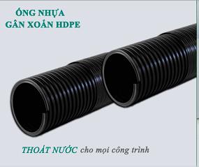 ống nhựa hdpe gân xoắn thoát nước thải tại tphcm