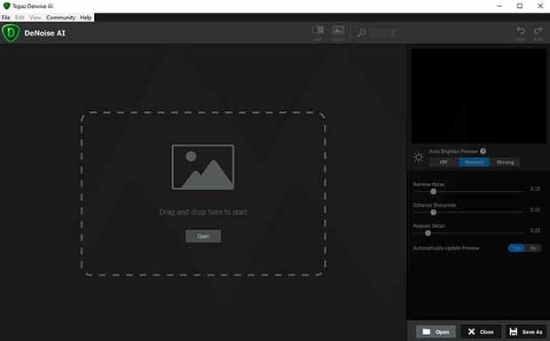 تحميل برنامج Topaz DeNoise AI 2.1.4 لتقليل ضوضاء الصورة دون التأثيرعليها